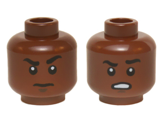 35e5a6d5f 5 sets Reddish Brown BrickLink - Part 3626cpb1420 : Lego Minifig, Head Dual  Sided Black Eyebrows, White Pupils, Raised Eyebrow / Open Mouth Scowling  Teeth ...