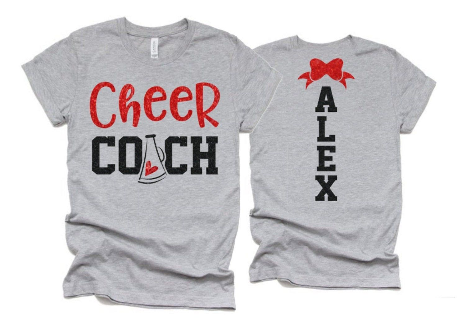 Cheer Spirit Wear Cheer Mom Shirt Short Sleeve Shirt Bella Canvas T-shirt Cheer Bling Cheer Shirt