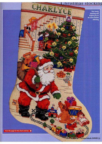 Pin de Elisa en Navidad | Pinterest | Botas, Natal y Punto de cruz