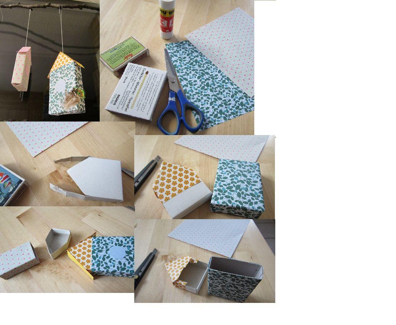 Vogelhaus aus streichholzschachtel streichholzschachteln - Streichholzschachteln hochzeit ...