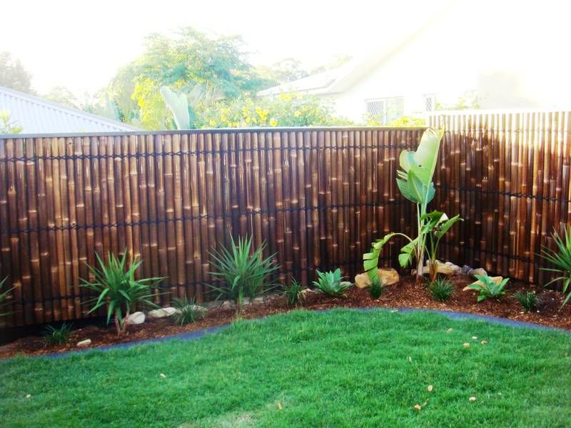 bamboo fence panels privacy garden screens pool spas