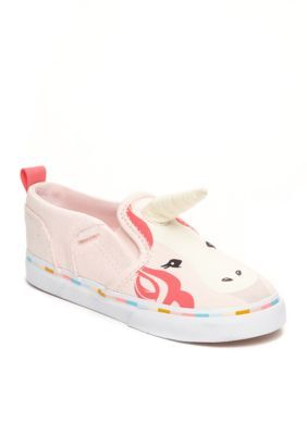 8845504eb2e Vans Girls  Asher Unicorn Slip-On Girls Shoes - Canvas Pink - 9M Toddler