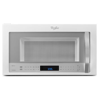 Whirlpool 2 1cuft White Ice Microwave Hood Combination With Accupop Cycle Wmh73521ch Microwave Steam Cleaning Microwave Hood