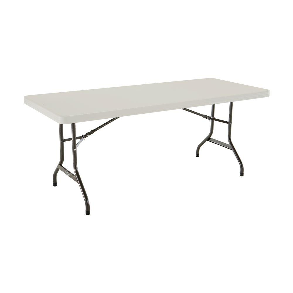 - Lifetime 72 In. Almond (Brown) Plastic Portable Folding Banquet Table Lifetime  Tables, Table, Rectangle Table