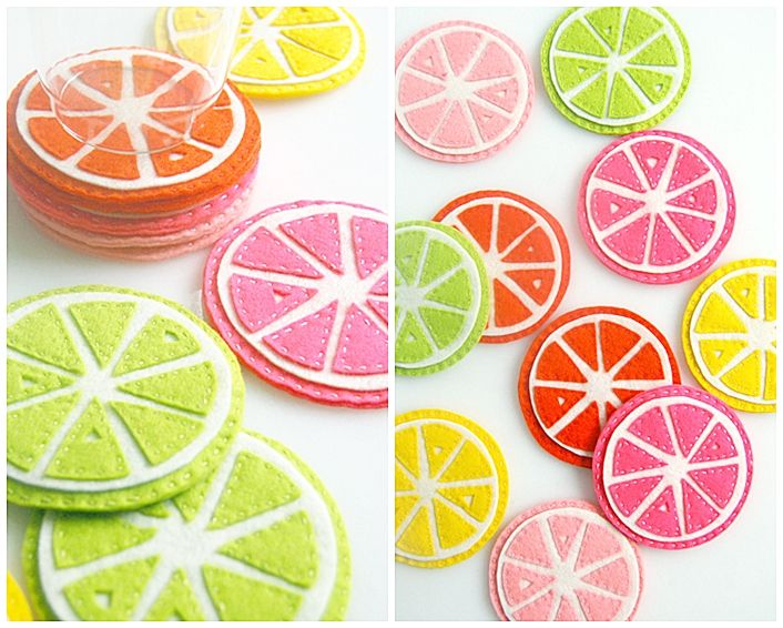 Citrus Coasters & 25 DIY Handmade Gift Tutorials Part 2   The 36th AVENUE