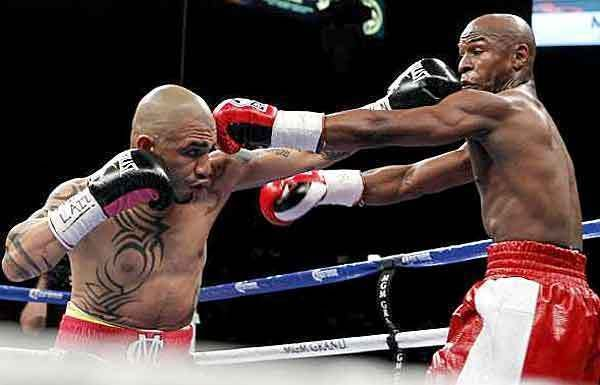 Floyd Mayweather wins unanimous decision over Miguel Cotto.  The Unbeaten American improves to 43-0 with the hard-fought victory over his Puerto Rican rival.