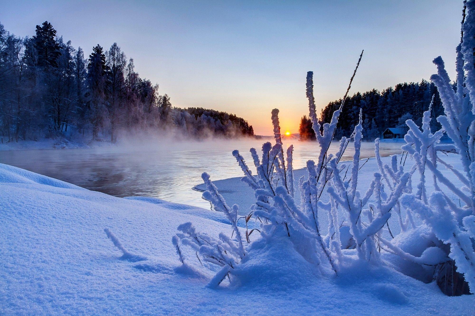 Amanecer de sol en invierno. Ver fotos HD de hermosas fauna fondos ...