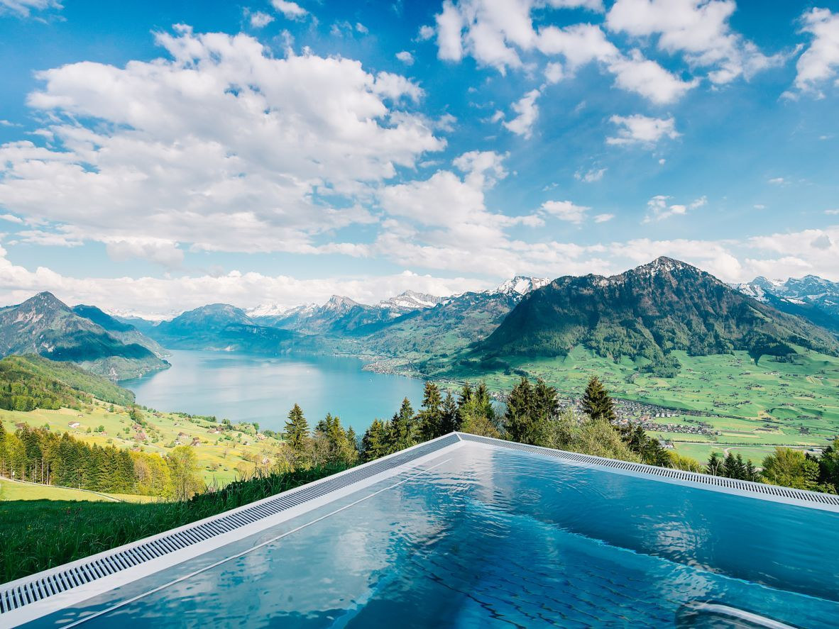 Best Hotel In Switzerland With Infinity Pool 9 Breathtaking Infinity Pools Booking Com Hotel Villa Honegg Villa Honegg Hotel Villa Honegg Switzerland