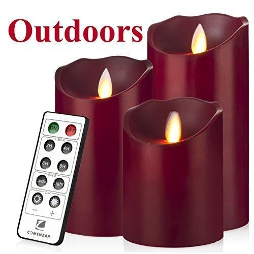 Outdoor Indoor Candles Waterproof Battery Operated Candles With