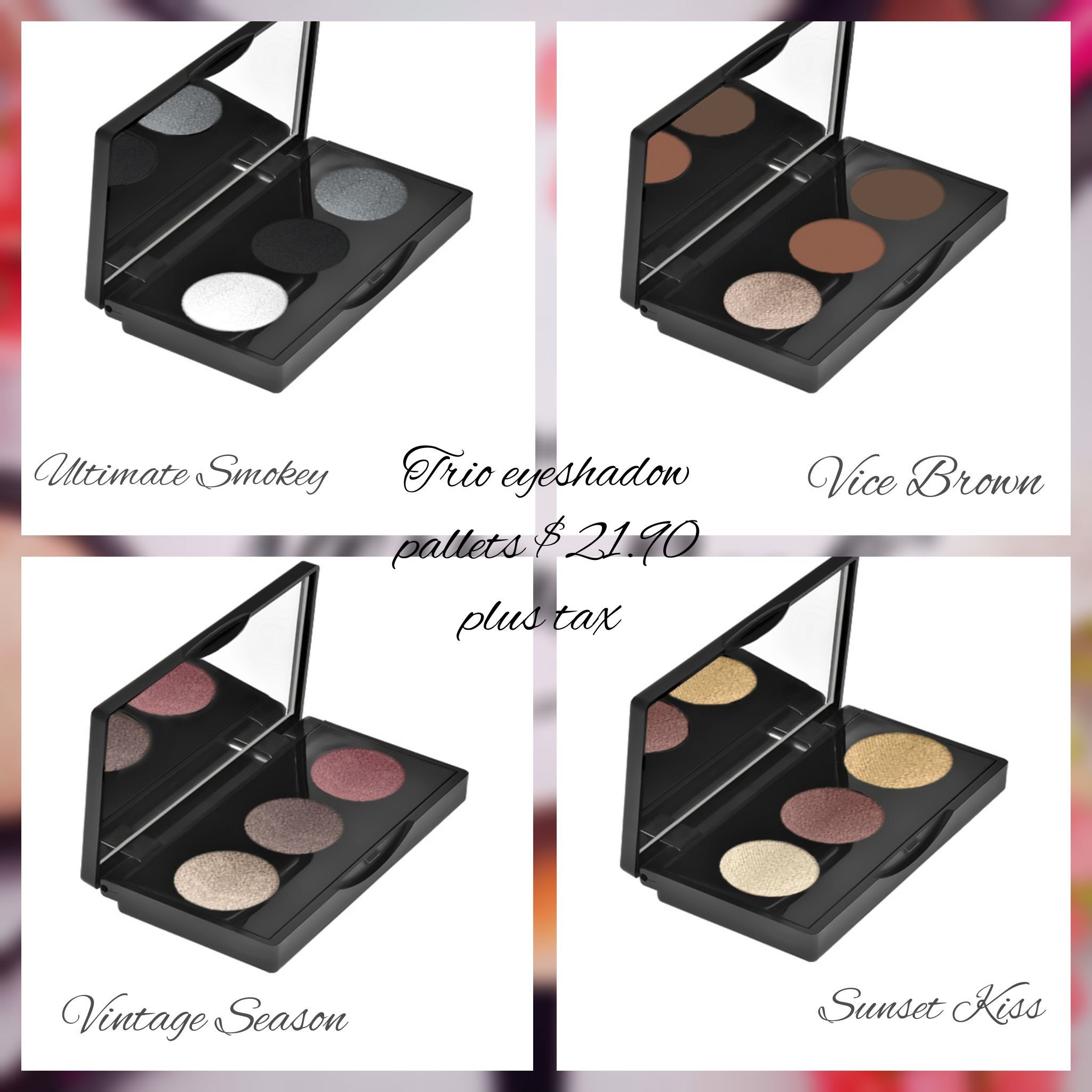 4 Different Palettes To Choose From! These Are Compact For