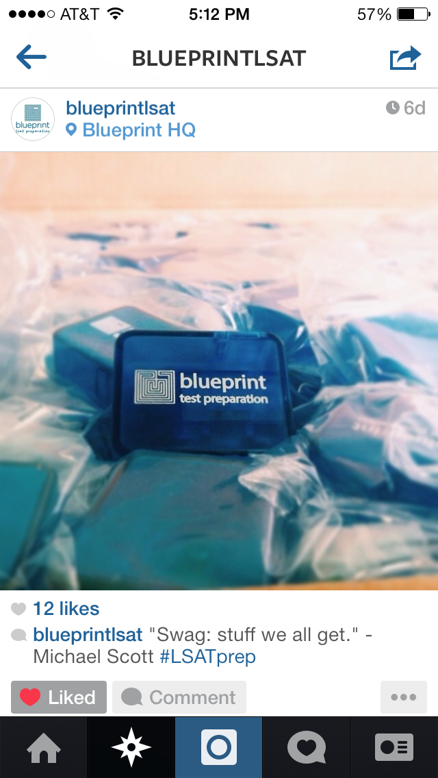 Follow us on instagram blueprint lsat preparation lsat instagram blueprint lsat preparation lsat instagram malvernweather