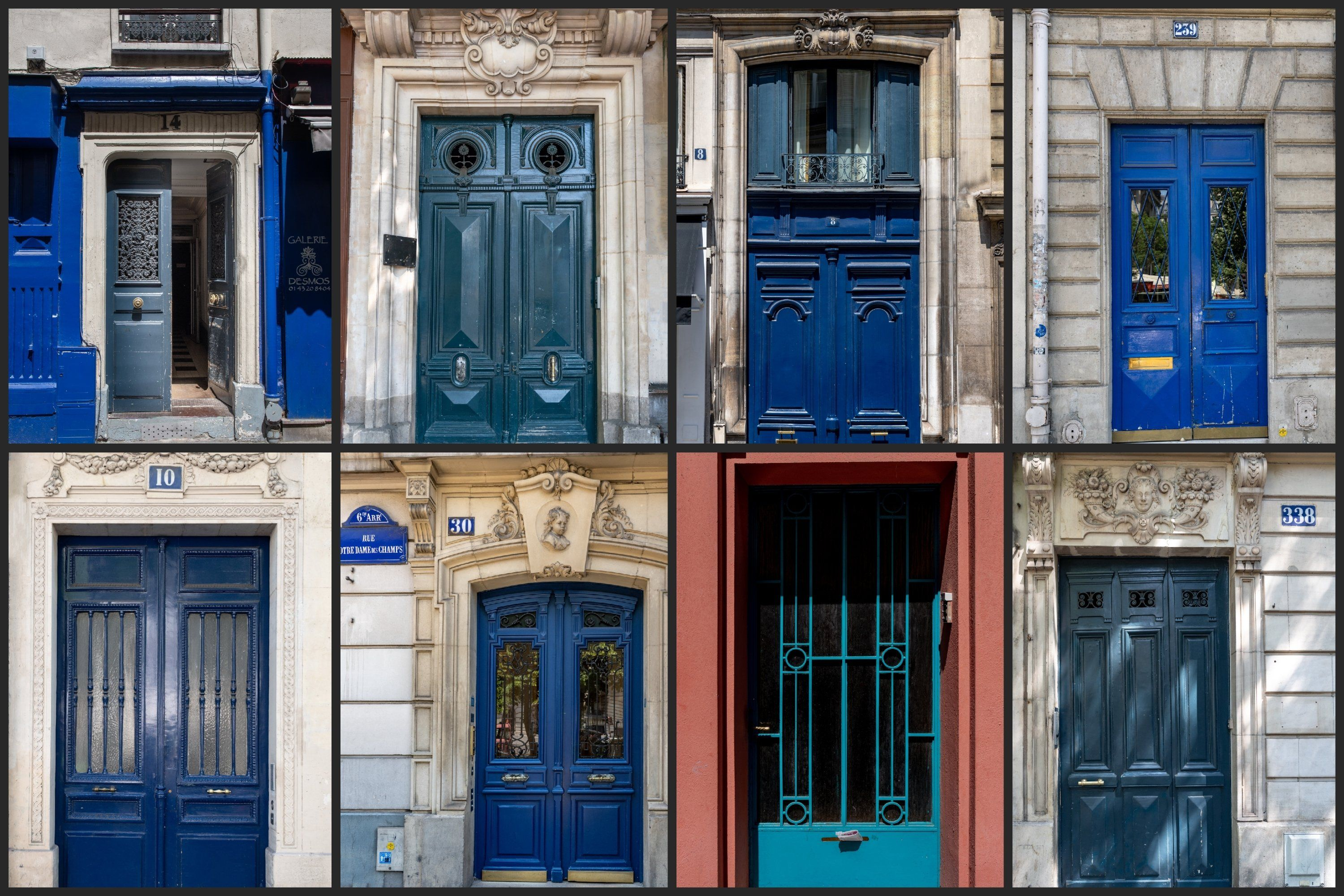 Paris Door Wall Art Set Of 26 Photos Vintage Blue Doors 594860 Travel And Adventure Design Bundles Paris Door Wall Art Sets Art Set