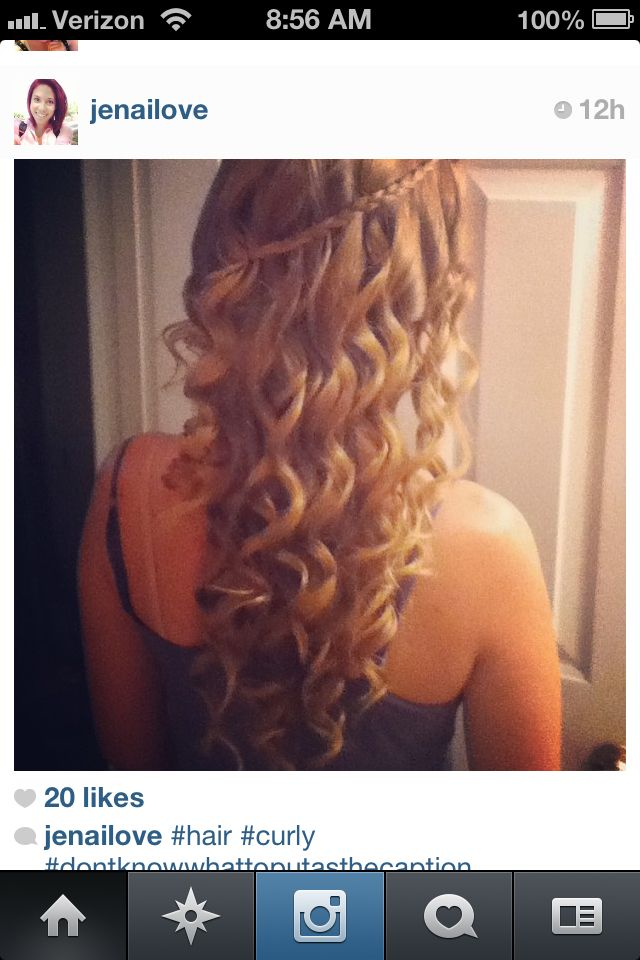 Curled hair, beautiful love it!