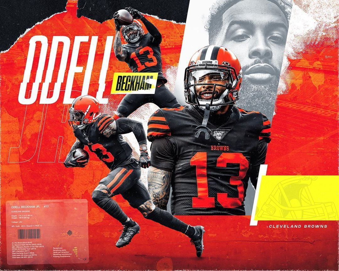 Nick Arley On Instagram Artwork For Obj X Clevelandbrowns Nfl Nba Nbaart Odell Beckham Jr Wallpapers Odell Beckham Jr Cleveland Browns