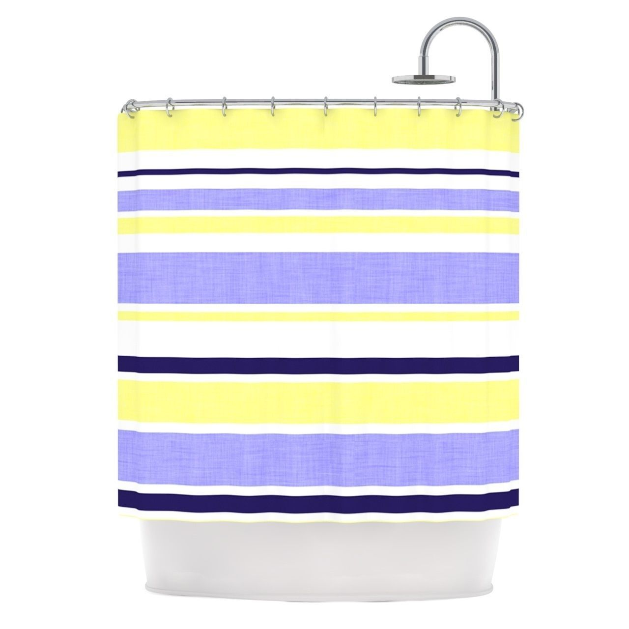 purple and yellow shower curtain. KESS InHouse Alison Coxon Jack Tar Purple Yellow Shower Curtain  69x70 by Kess