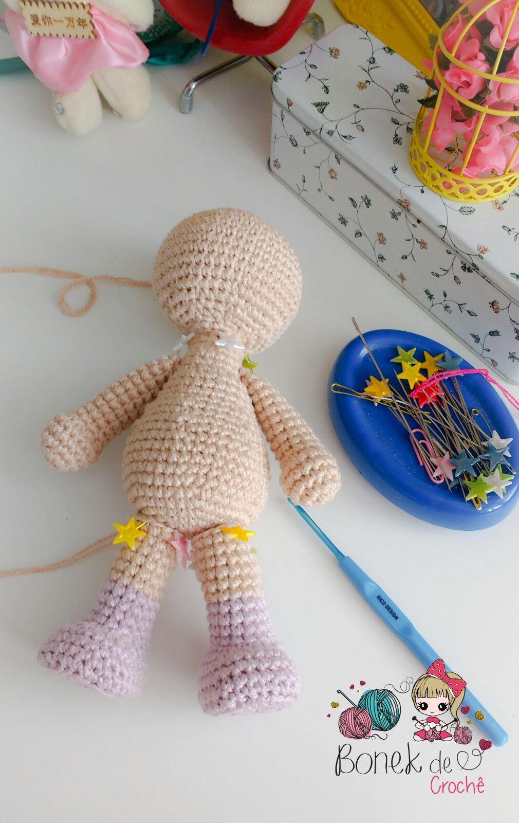 Boneca De Croche Corpinho Passo A Passo Como Fazer Boneca