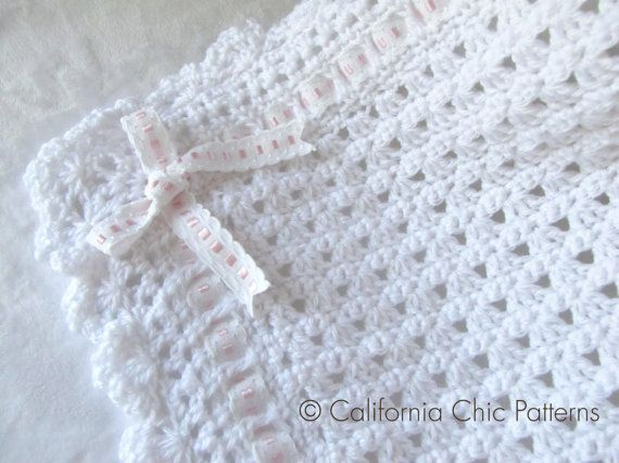 Crochet PATTERN 41 - Angel Series - Christening Blanket Pattern 41 ...
