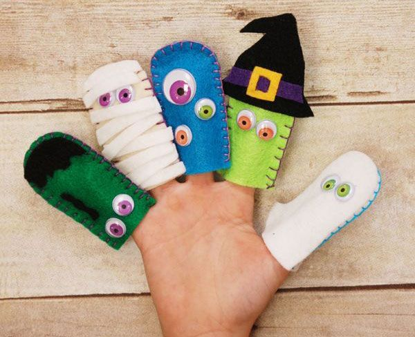 Marionette Dita Feltro Halloween 3