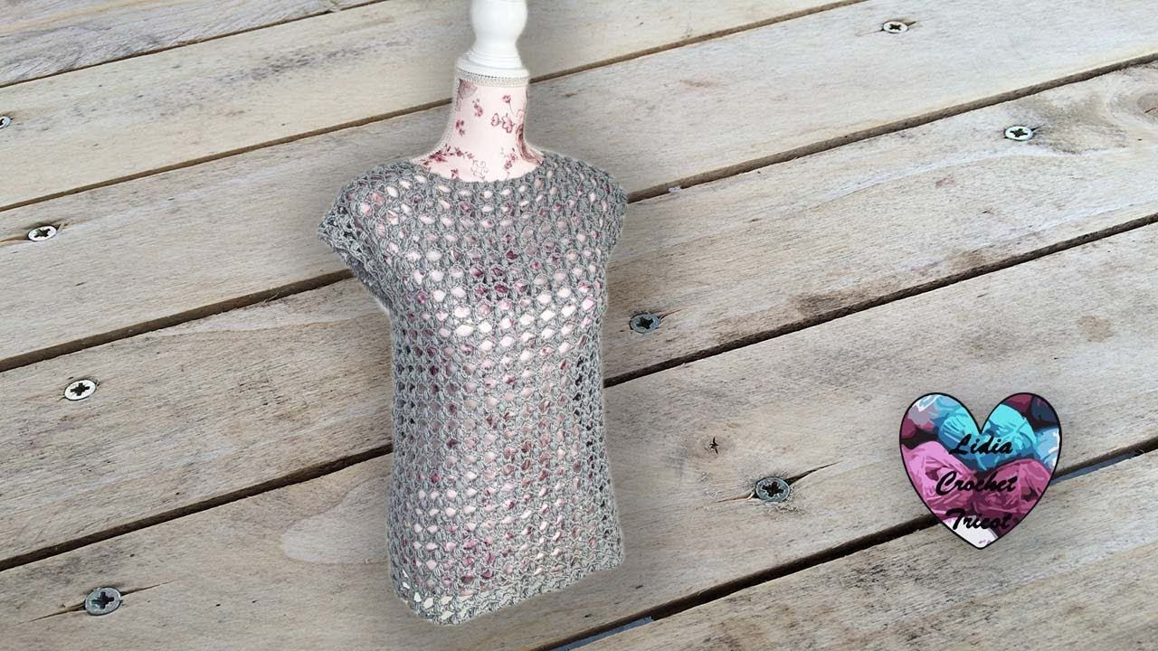 Blouse Lilly Toute Tailles Lidia Crochet Tricot Youtube