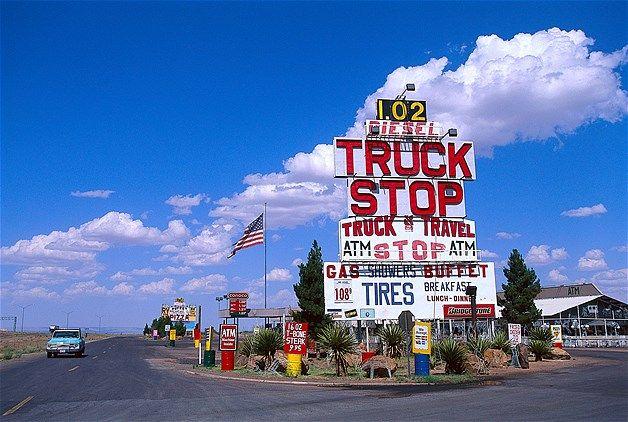 Image Truck Stop Van Horn Texas C Look Die Bildagentur Der