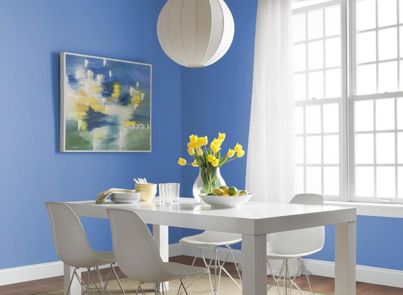 26 Beautiful And Bright Dining Room Designs Dining Room Paint Dining Room Paint Colors Dining Room Blue Beautiful color for dining room