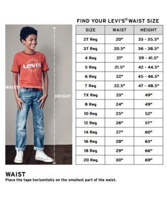 Levi's Slim 505 Regular Fit Jeans, Little Boys (4 7) Blue
