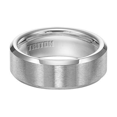 169 Triton Mens 80mm Comfort Fit Beveled Edge Cobalt Wedding Band
