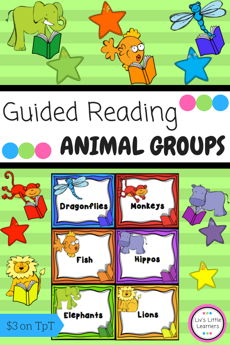 Animal Guided Reading Groups English Colourful Labels Tags Printable Early Childhood Education Guided Reading Groups Guided Reading Reading Groups