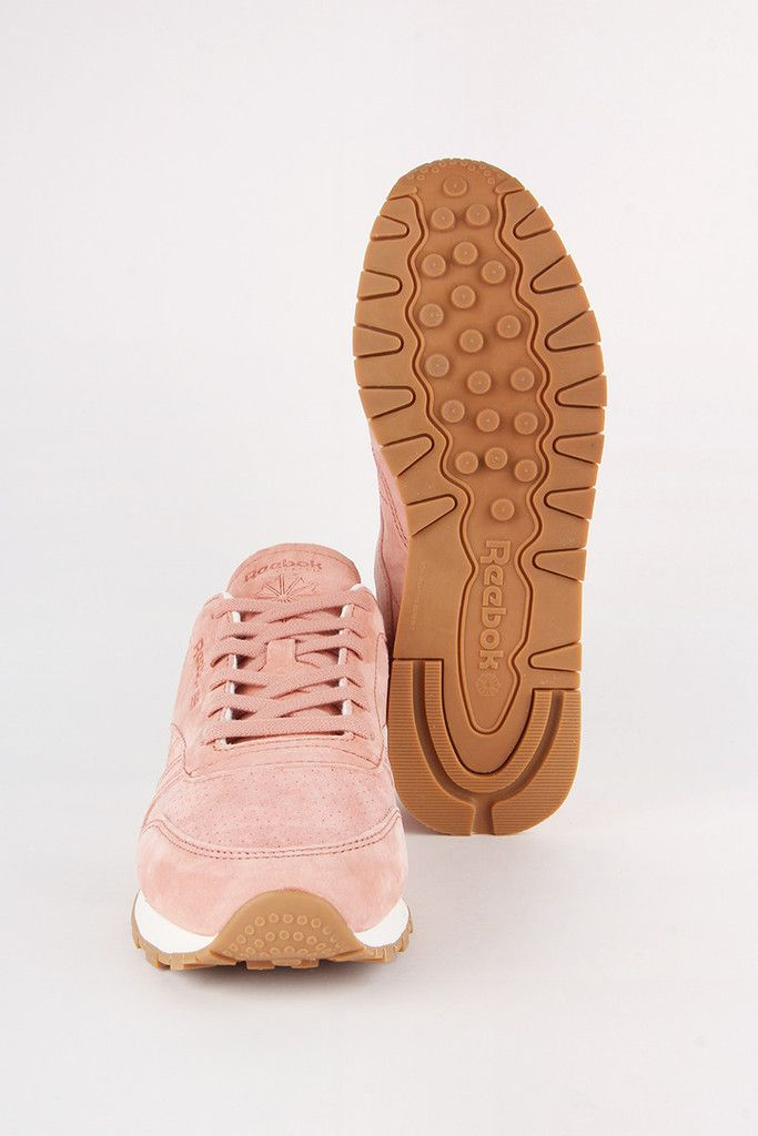 ed43256d7b523 Reebok Womens CL Leather Bread   Butter - rustic clay chalkFit  Regular -  Shop to size Material  Suede upper