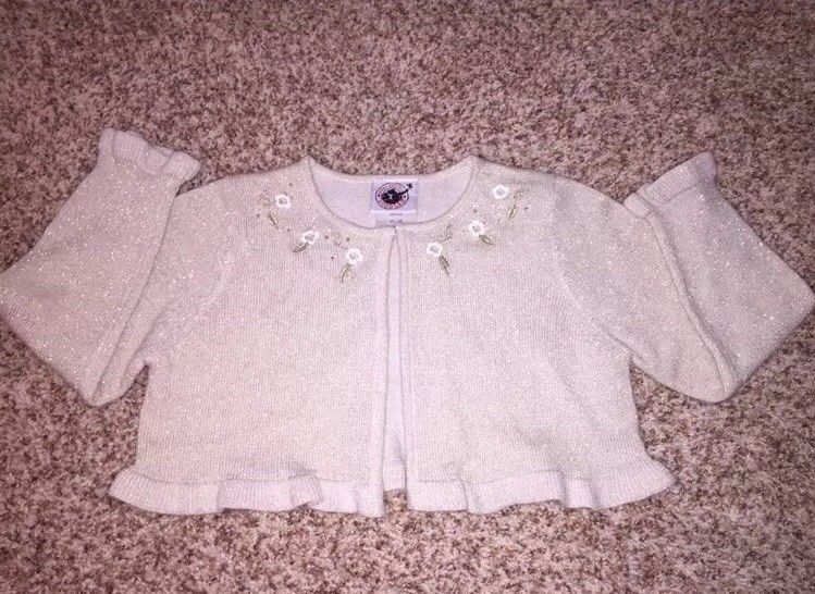 5414f1ef747a ADORABLE Good Lad Gold Champagne Sparkle Shimmer Cardigan Sweater ...