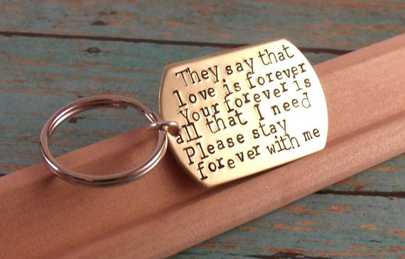 Love quotes KeychainPerfect Gift for a Grooms Wedding by Namedrops, $28.00