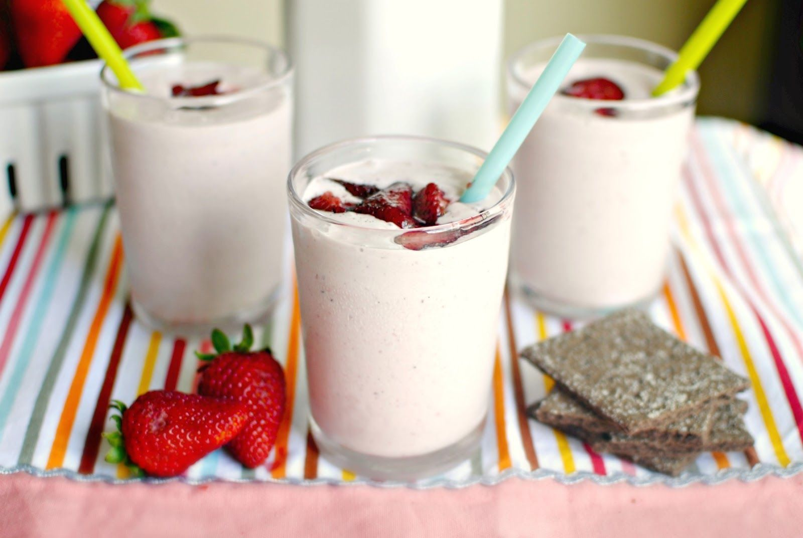 Strawberry Vanilla Bean Milkshakes