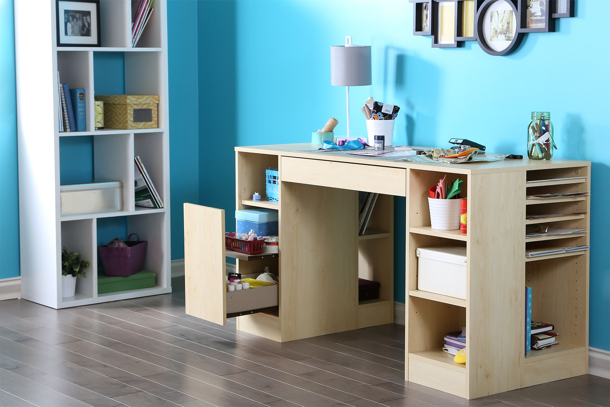 Pin By Dana Dezine On Kidsroom Craft Table Craft Tables With Storage Sewing Table