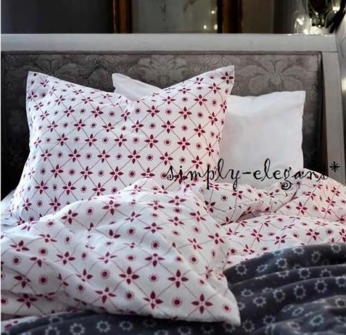 Ikea Vinter Christmas Duvet Quilt Cover W Pillowcase Cotton Blend White Gray Holiday Bed Beige Bed Linen Ikea