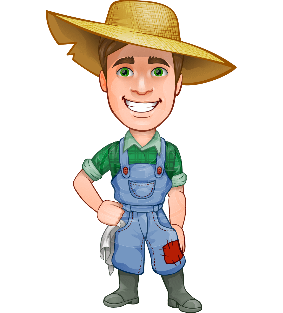 Connor as mr Handsome Farmer: A #farmer #man #vector # ...
