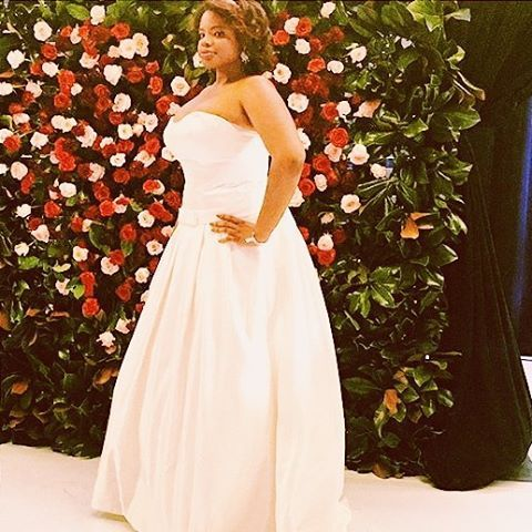"""Instagram media renidamali - """"Roses,Satin,and Lavish Cashmere"""". This gorg #curvy #model felt like I was walking on air in this lovely #dress. Modeling Celeb Desinger #davidtateraformoncheri #wedding #gown style in Elle. Representing the bridal shoppe of Wylie @dallasbridalshow #slay#bridal#wear 2016. #fashion #show #style #chic #pretty  #beautiful #luxury #heels #jewelry#swag#boobs #life#smile#tbt#girl#photooftheday  #instagood #photooftheday #me #instamood  #nofilter #happy"""