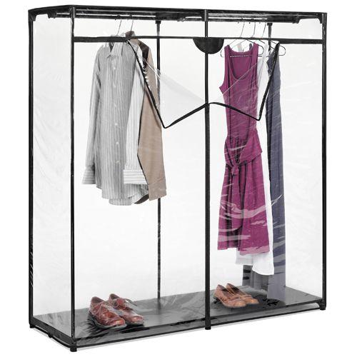 Idea For Basement Clothing Storage.