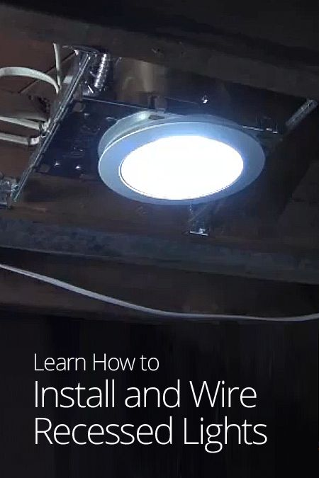 How to do recessed lighting in kitchen : How to install and wire recessed lights do it yourself