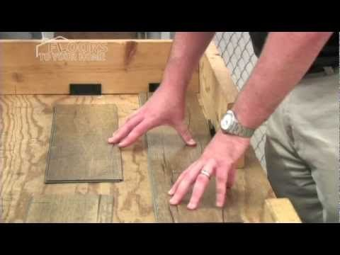 Installing Click Together Laminate And Vinyl Plank Flooring Angle