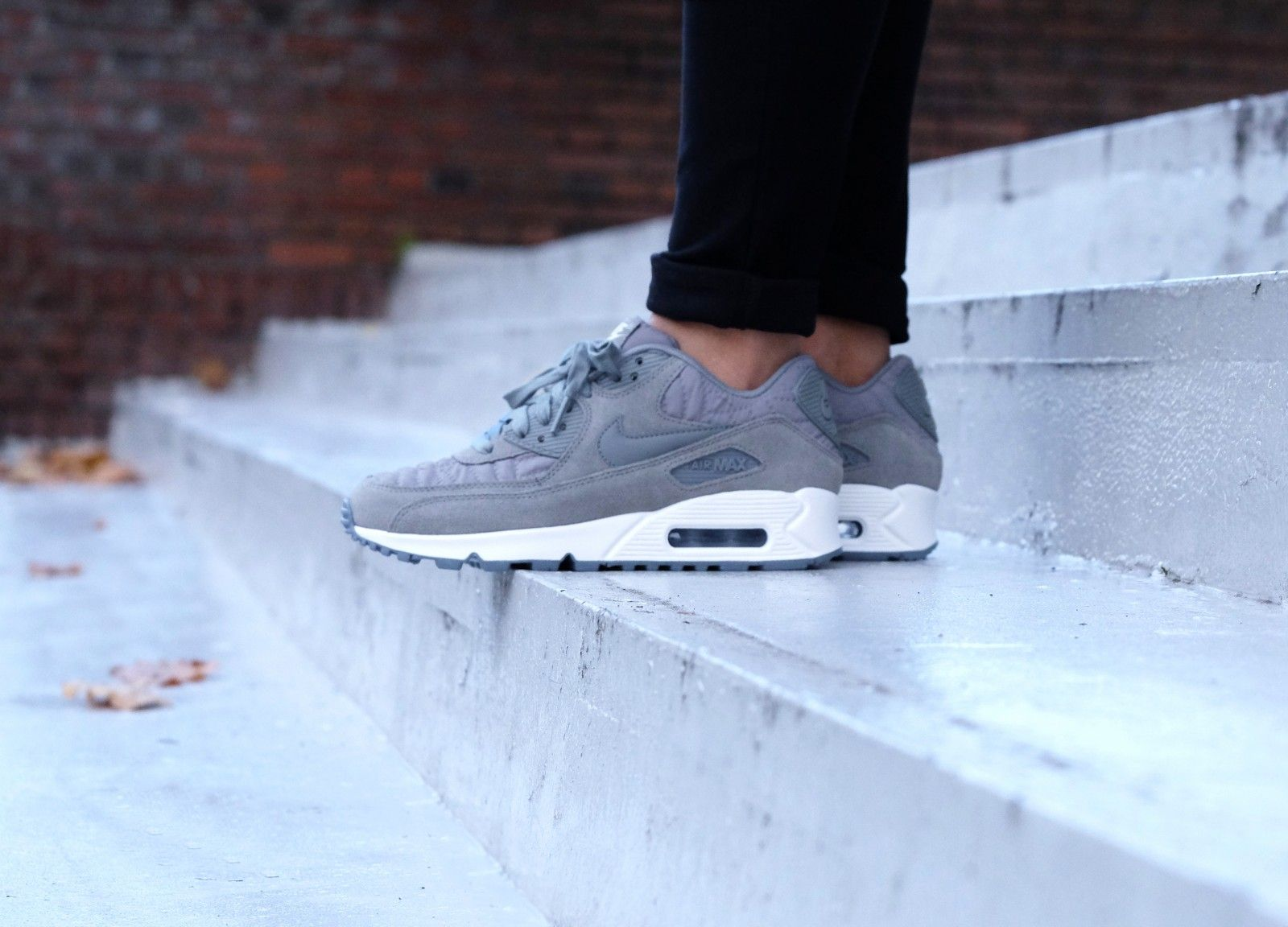 nike air max 90 premium dames cool grey