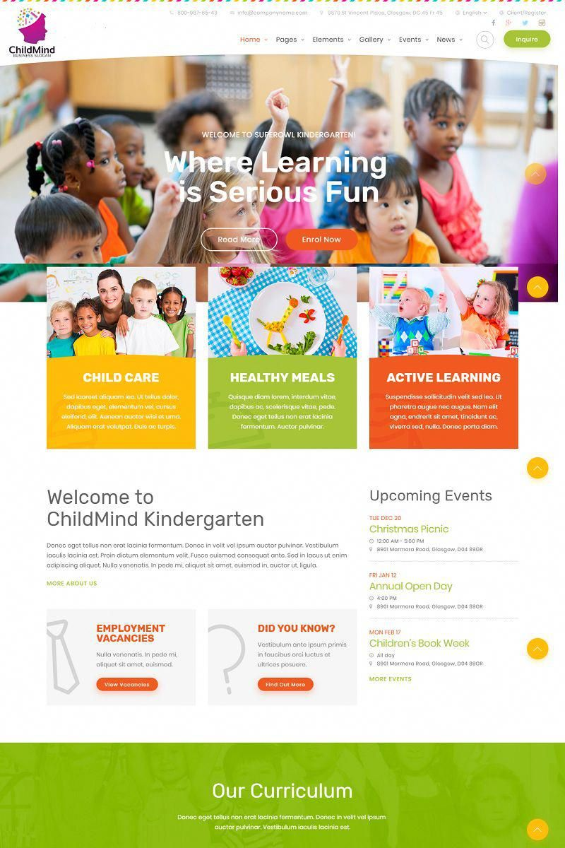 Child Mind School Learning Agency Psd Template 66840 Web
