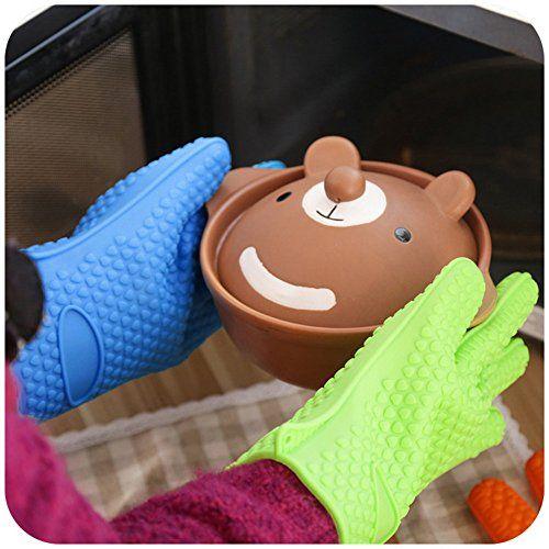 1pcs Heat Resistant Silicone Glove Cooking Baking  Oven Pot Holder Mitt Kitchen