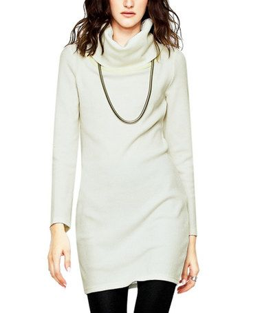 Love this Off-White Cowl Neck Sweater Dress on #zulily ...