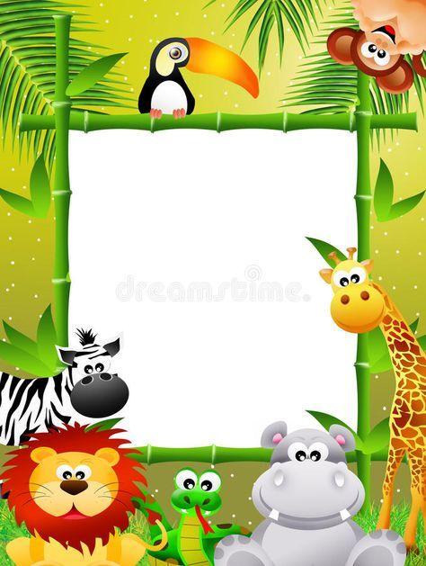 Desenhos Animados Dos Animais Selvagens Ilustração