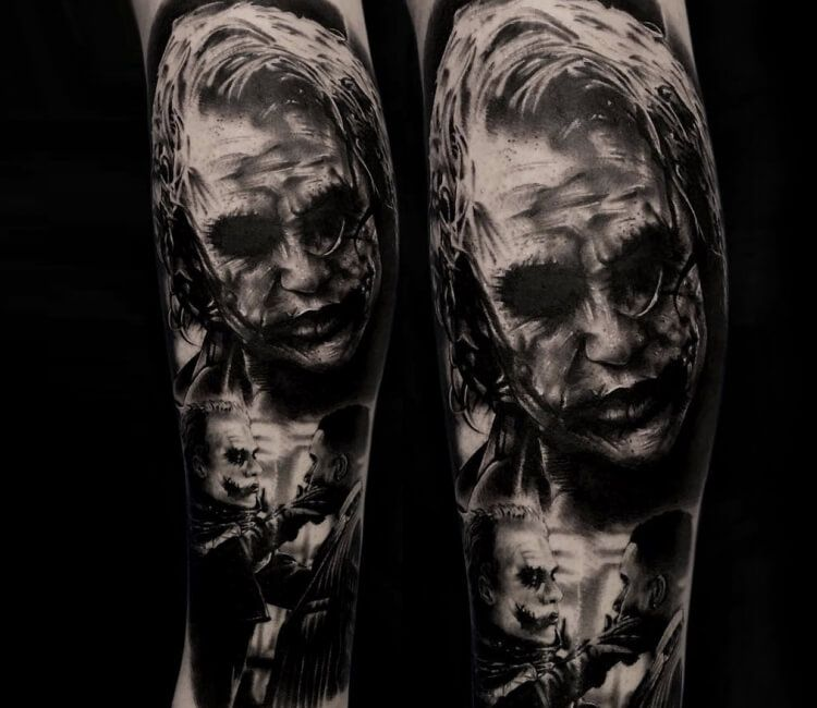 Joker Tattoo By Benjamin Blvckout Joker Tattoo World Tattoo