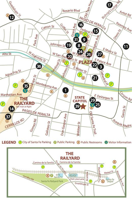 Santa Fe downtown map #Santa Fe #Getaway | Plan your trip ...