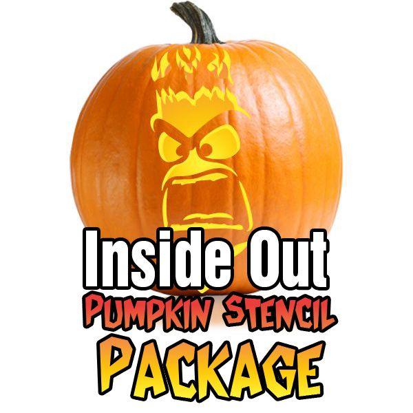 Inside Out Movie Pumpkin stencil package