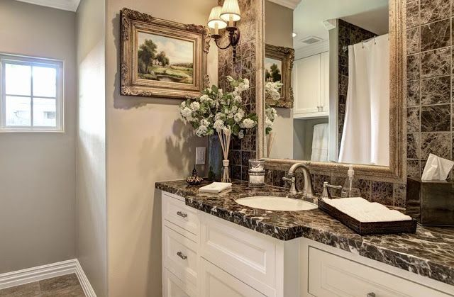 French Country Style S Ranch Style Home Gets A Masterful - 1950's style bathroom vanity