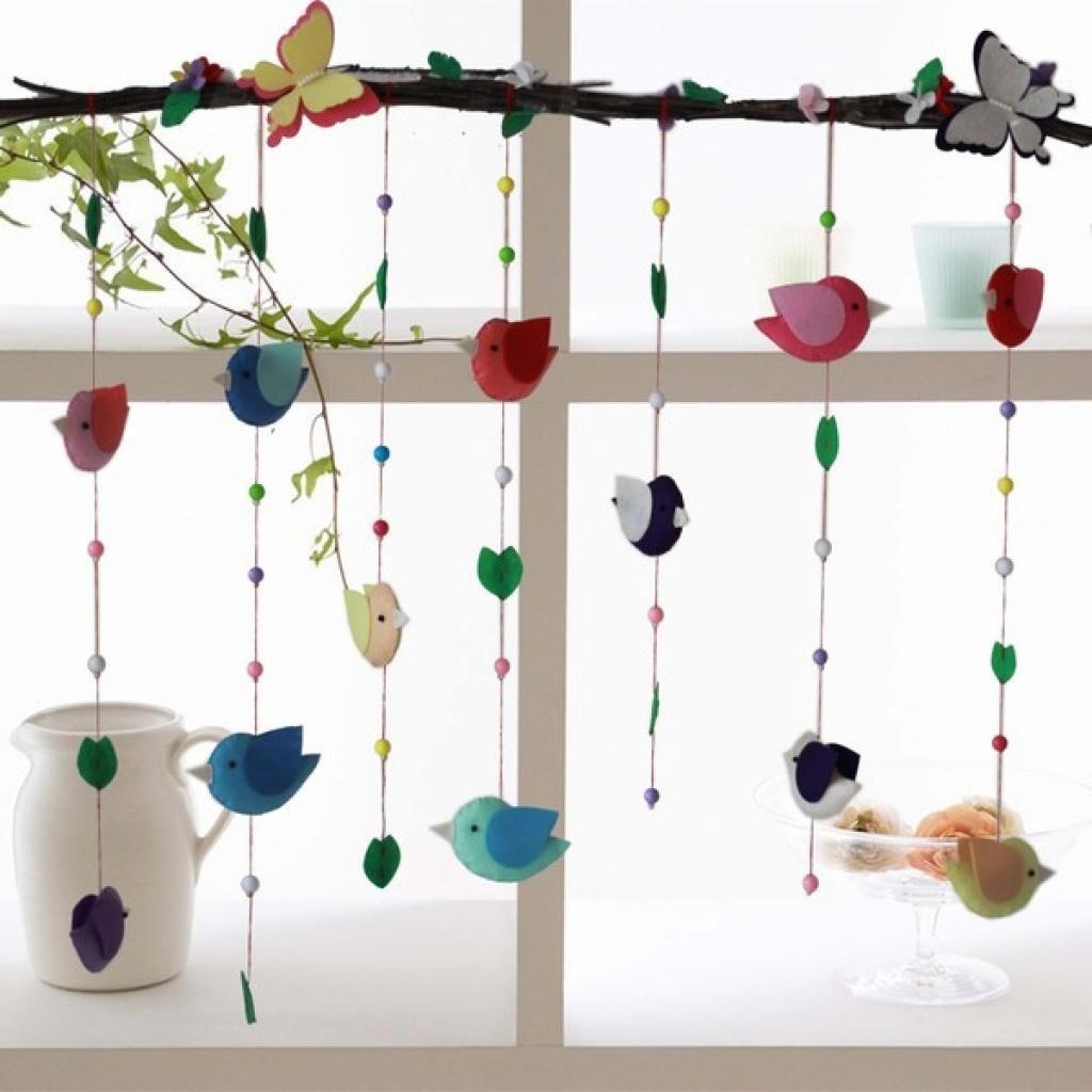 Bricoler un joli mobile de petits oiseaux!, #Bricoler #décordété #joli