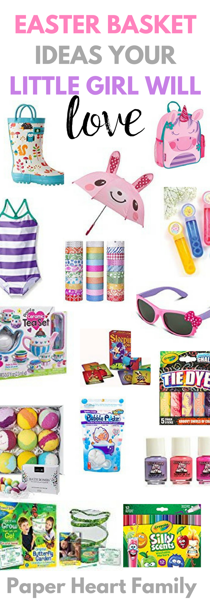 50 easter basket stuffers that you will love as much as your kids girls easter basket ideas over 50 no junk easter basket ideas for girls an negle Choice Image
